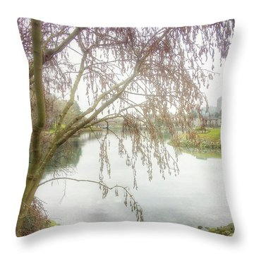 Throw Pillow featuring the photograph Winter's  End  by Connie Handscomb