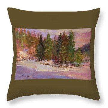 Winter's Eve Plein Air Throw Pillow