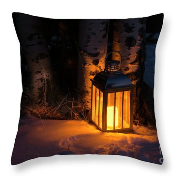 Throw Pillow featuring the photograph Winter's Eve by The Forests Edge Photography - Diane Sandoval