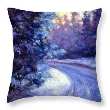 Winter's Exodus Throw Pillow