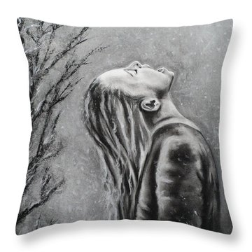 Winters First Snowfall Throw Pillow