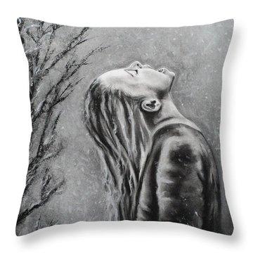Winters First Snowfall Throw Pillow by Carla Carson