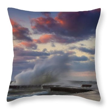 Winters Fury Throw Pillow