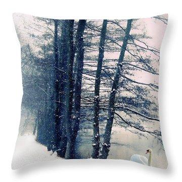 Winter's Glow Throw Pillow