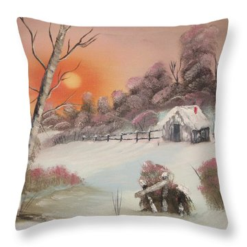 Winter's Grip Throw Pillow by Rich Fotia