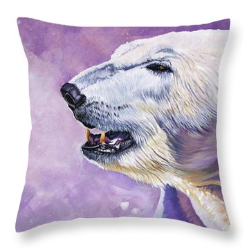 Winter's Herald Throw Pillow