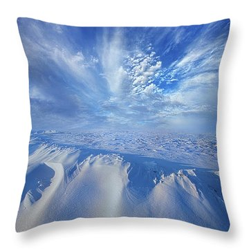 Throw Pillow featuring the photograph Winter's Hue by Phil Koch