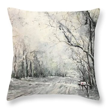 Dee Street Series Winter Wonderland Throw Pillow