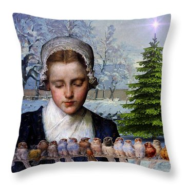 Winters Past Throw Pillow