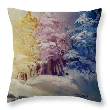 Winter's Pride Throw Pillow