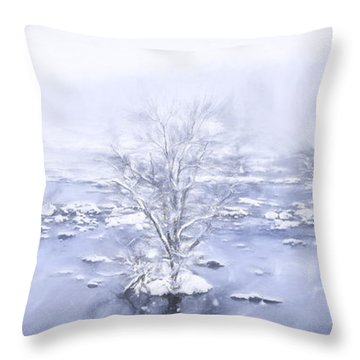 Winters Roar II Throw Pillow