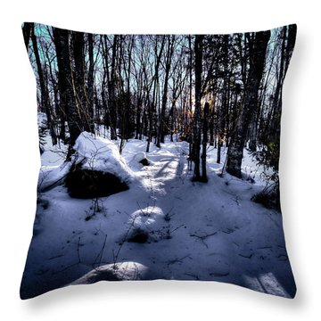 Throw Pillow featuring the photograph Winters Shadows by David Patterson