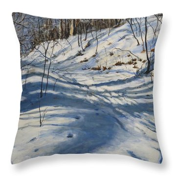 Winter's Shadows Throw Pillow