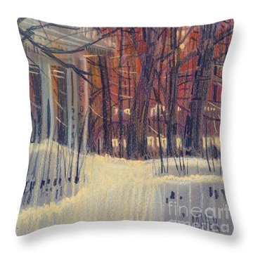 Winter's Snow Throw Pillow by Donald Maier