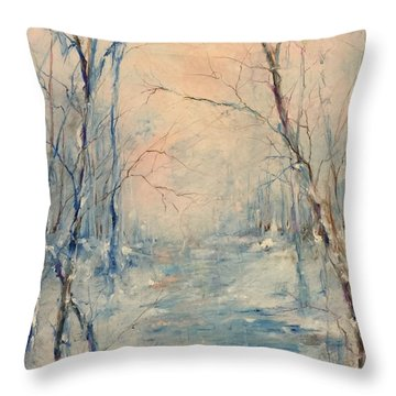Winter's Soul Throw Pillow