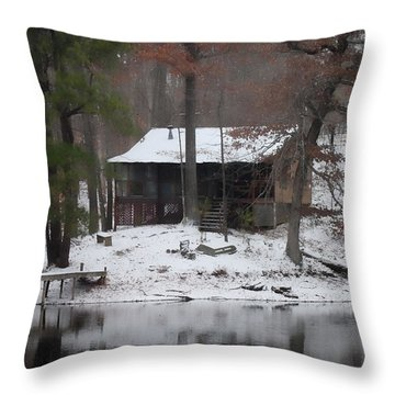 Winters Touch - Best Seller - Artist Cris Hayes Throw Pillow