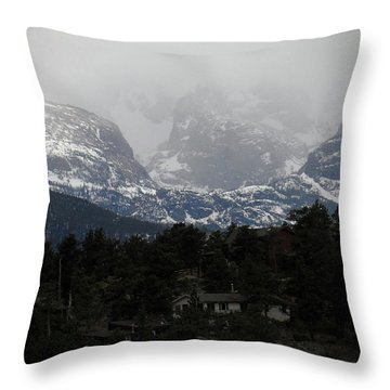 Winters Touch Throw Pillow