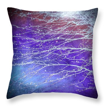 Winter's Twilight Throw Pillow