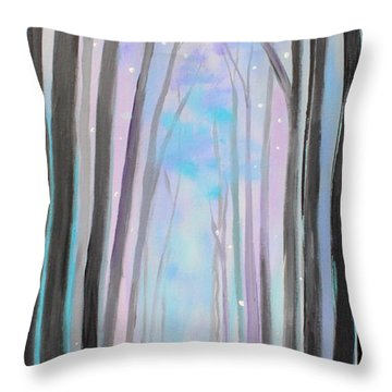 Winter's Walk Throw Pillow