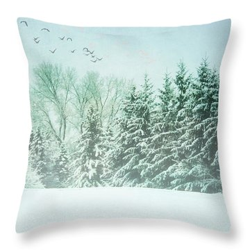 Winter's Watch Throw Pillow
