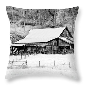 Winter's White Shroud Throw Pillow