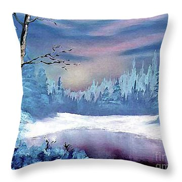 Winterscape Throw Pillow by Dee Flouton