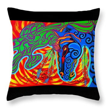 Throw Pillow featuring the painting Winter Spirit by Debbie Chamberlin