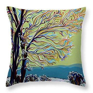 Wintertainment Tree Throw Pillow