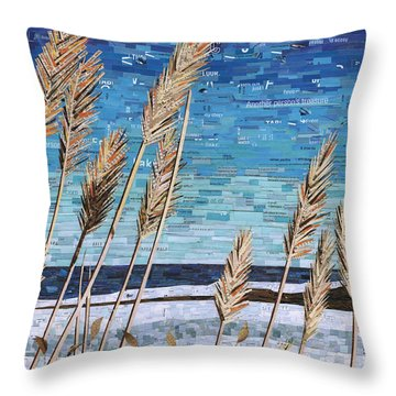 Wintertime On Lake Erie Throw Pillow