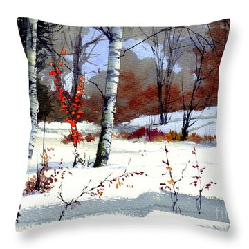 Wintertime Painting Throw Pillow