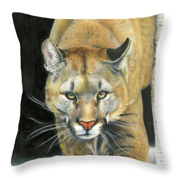 Wintertime Prowler Throw Pillow