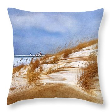 Wintertime St. Joe Lighthouse  Throw Pillow