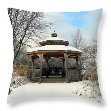 Wintertime Throw Pillow