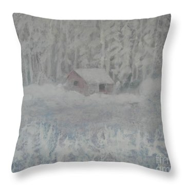 Wintery Woodland Throw Pillow