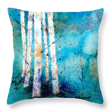 Wintry Aspen Throw Pillow