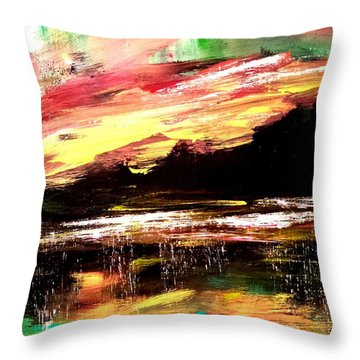 Wintry Morning Throw Pillow
