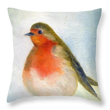 Wintry Throw Pillow by Nancy Moniz