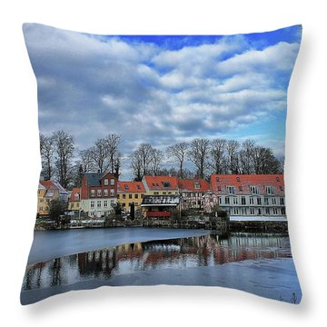 Wintry Nyborg Throw Pillow