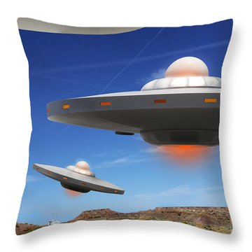Wip You Never Know What You Will See On Route 66 Throw Pillow by Mike McGlothlen