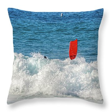 Throw Pillow featuring the photograph Wipe Out by David Lawson