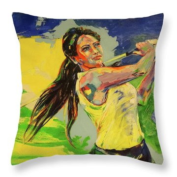 Wird Es Das Grun Erreichen  Will It Reach The Green Throw Pillow