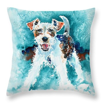 Wire Fox Terrier Throw Pillow
