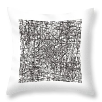 Wired Abstraction Throw Pillow by Eleonora Perlic