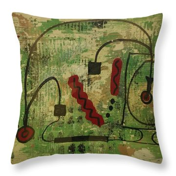 Wired Composition Enigma Throw Pillow