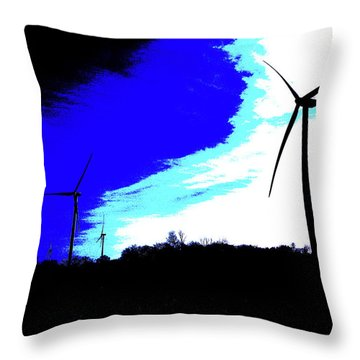 Wirly Gigs Throw Pillow