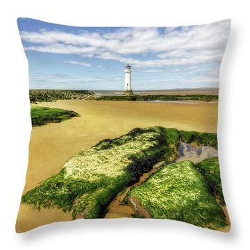 Throw Pillow featuring the photograph Wirral Lighthouse by Ian Mitchell