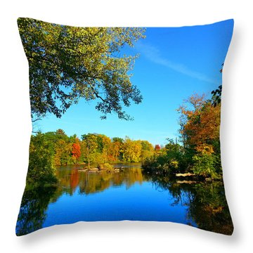 Wisconsin River Colors 2 Throw Pillow