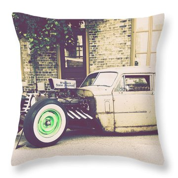 Throw Pillow featuring the photograph Wisconsin State Journal Ratrod by Joel Witmeyer