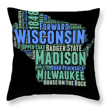 Wisconsin Throw Pillows