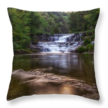 Throw Pillow featuring the photograph Wiscoy Falls by Mark Papke